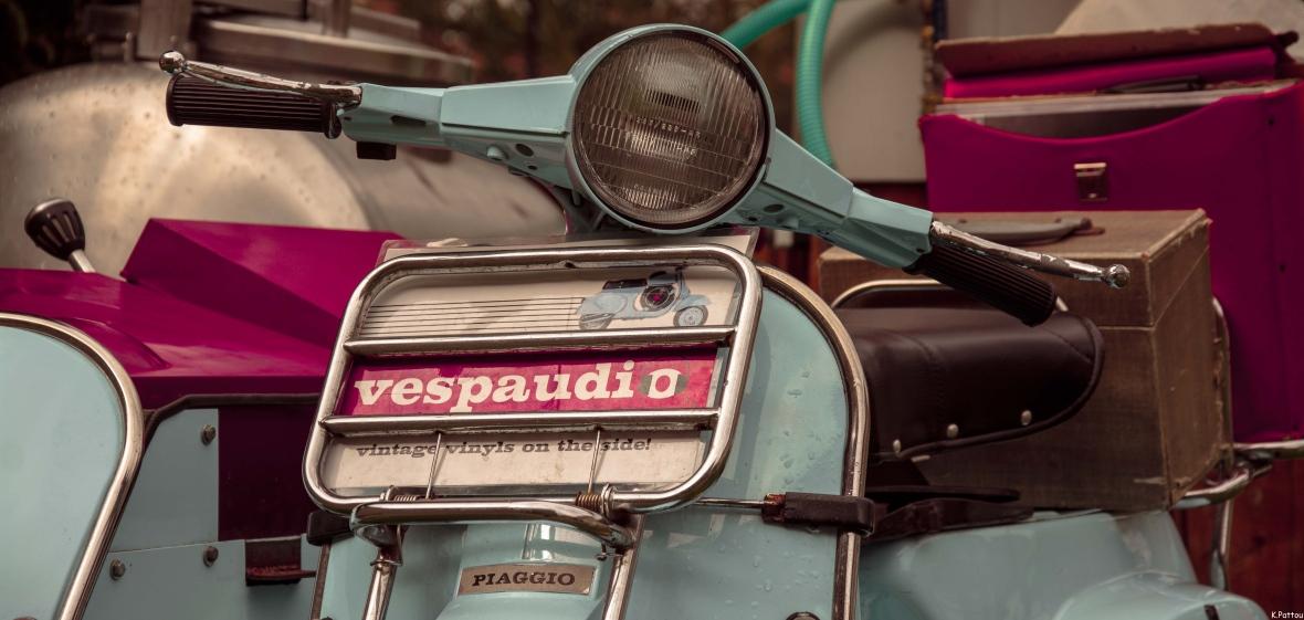 The vintage Vespa.