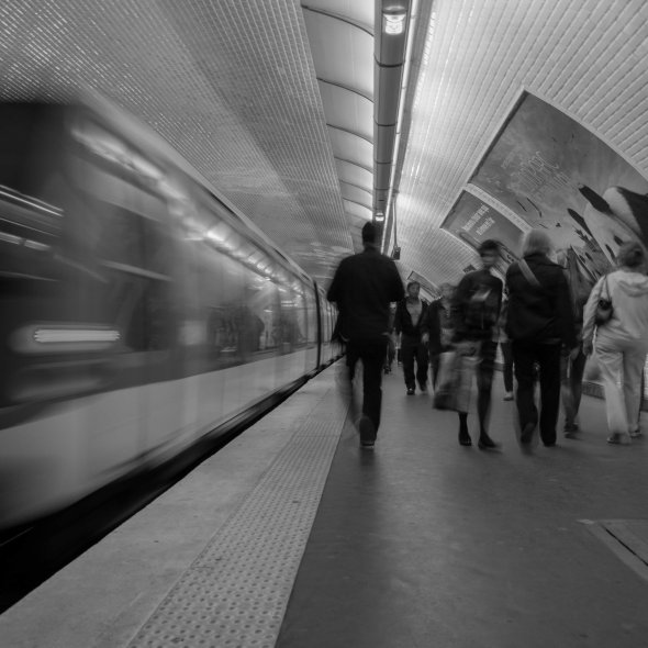 The subway of Paris.