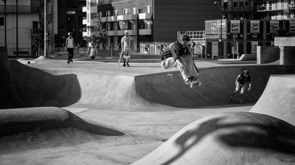 skatepark Stapelbäddsparken in Malmö (Sweden)