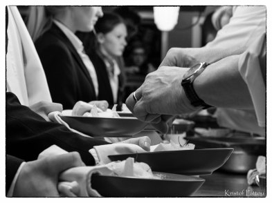 Chefs in the kitchen.