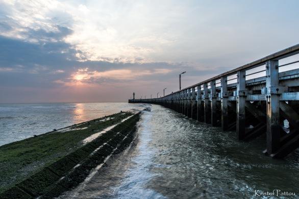 Along the Belgian coast in Nieuwpoort.