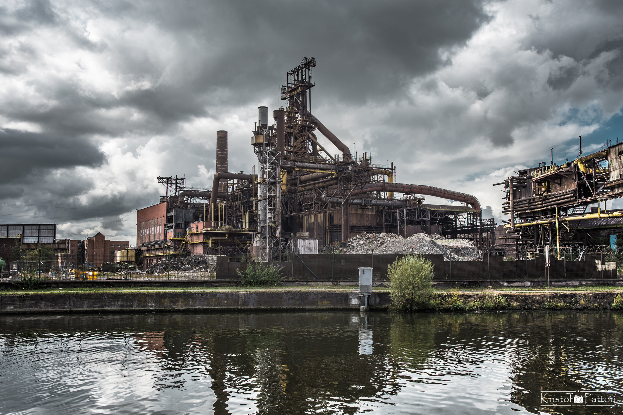 Abandoned factorty and steel industrie
