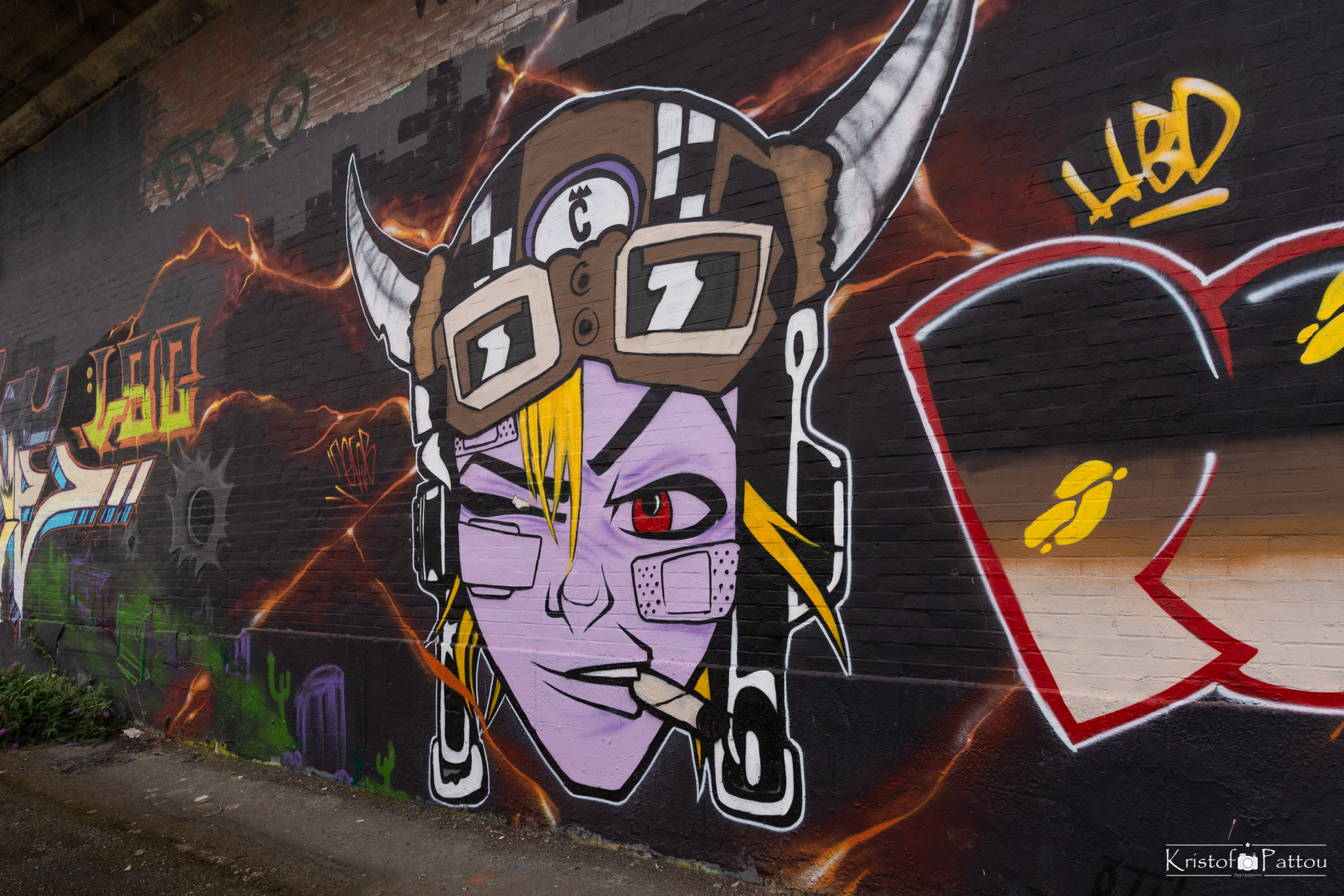 Graffiti wall in Charleroi